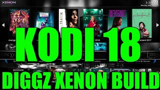 THE BIG BOY BUILDS ARE FINALLY ON KODI 18💪DIGGZ XENON BUILD